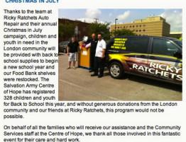 Ricky Ratchets food bank