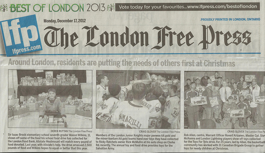 where is the london free press printed